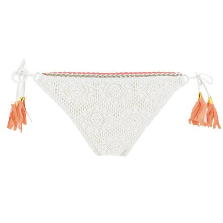 BANANA MOON Maillot de bain slip Galbia Couture Crochet Ecru