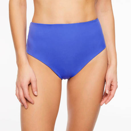 CHANTELLE Maillot de bain culotte haute réversible Eclipse Deep Blue/Lemon