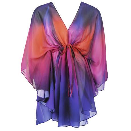 GOTTEX Caftan Belle Fleur Multi Purple