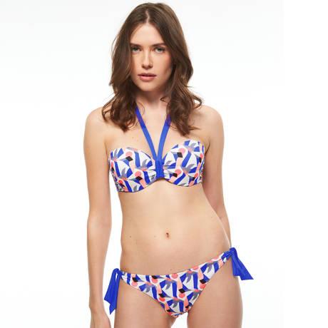 CHANTELLE Maillot de bain bandeau coques Reflet Graphic Blue