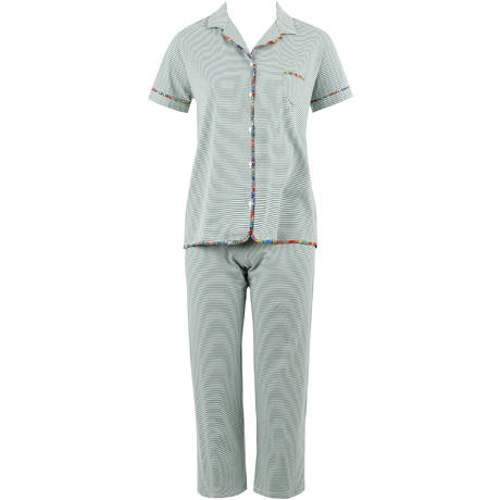LE CHAT Pyjama en coton Délice Multico/Kaki