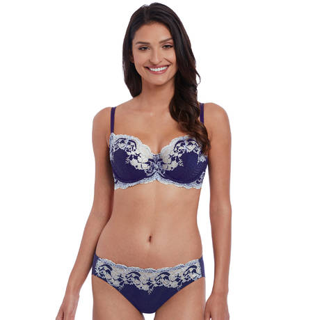 WACOAL Slip Lace Affair Patriot Blue/Halogen Blue