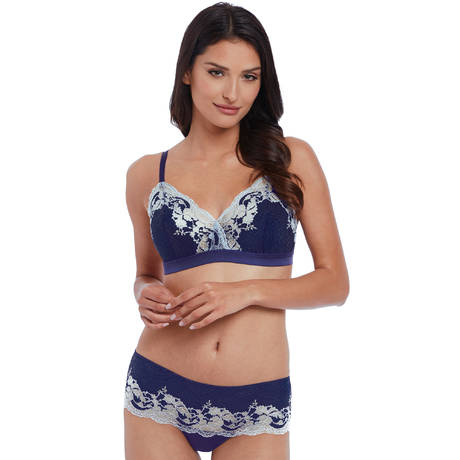 WACOAL Tanga Lace Affair Patriot Blue/Halogen Blue