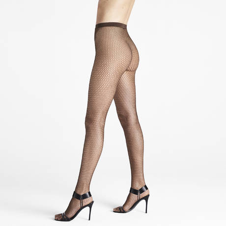WOLFORD Collant résille Soft Whisper Ristretto