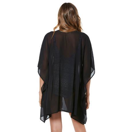 MIRACLESUIT Caftan Embellished Castaway Stripe Noir