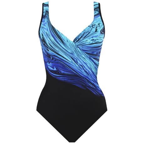 MIRACLESUIT Maillot de bain 1 pièce It's a Wrap gainant Blue Pointe Bleu