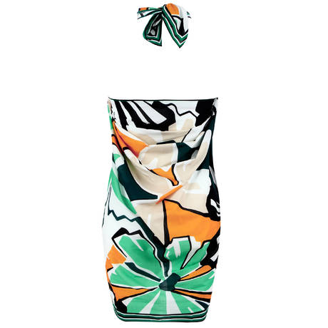 CHANTELLE Paréo en coton Graphic Garden Multicolore