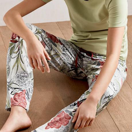 CALIDA Pantalon en coton Favourites Trend Mix & Match Star White