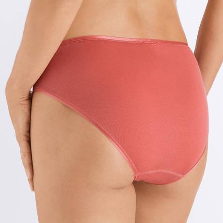 HANRO Slip en coton Cotton Seamless Mineral Red
