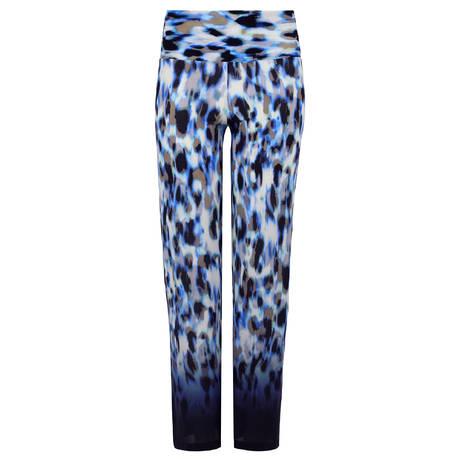 PAIN DE SUCRE Pantalon Ymali Blues Leopard Bleu