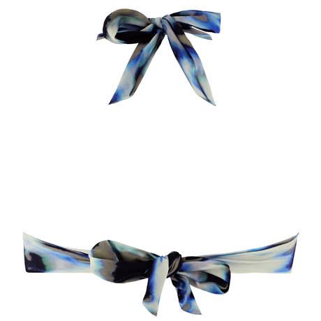 PAIN DE SUCRE Maillot de bain triangle push-up Donia Blues Leopard Bleu