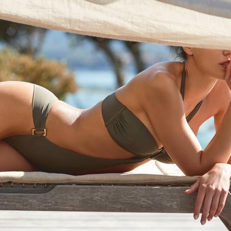 AUBADE Maillot de bain trikini Esprit Sauvage Kaki