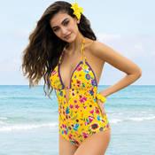great fit promo codes price reduced Maillot de bain Nageur 1 pièce La Romanesque Jaune Eden