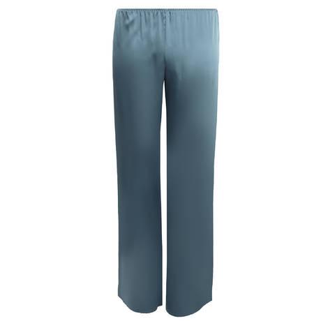 MARJOLAINE Pantalon en soie Soie Unie Acier