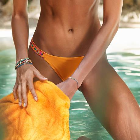 BANANA MOON Maillot de bain slip brésilien Quintana Orange