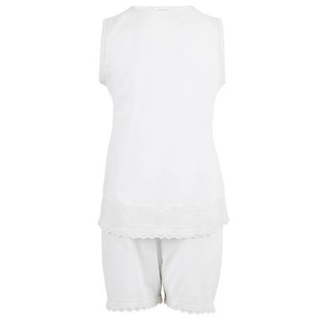 CANAT Pyjama short en coton Anais 24 Blanc