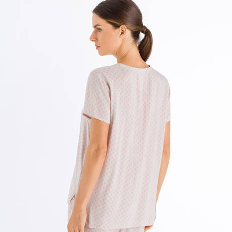 HANRO Top manches courtes Sleep & Lounge Minimal Blush