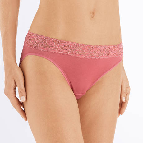 HANRO Slip en coton Moments Mineral Red