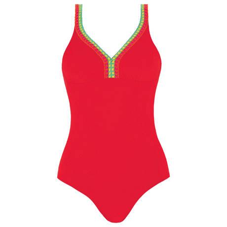 ANTIGEL Maillot de bain 1 pièce nageur sans armatures La Santa Antigel Santa Rouge