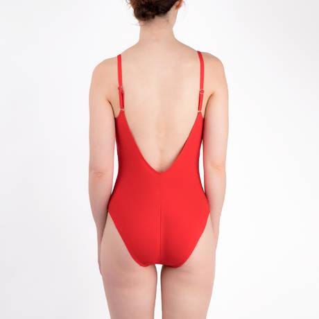 LISE CHARMEL Maillot de bain 1 pièce nageur Ajourage Couture Ajourage Carmin