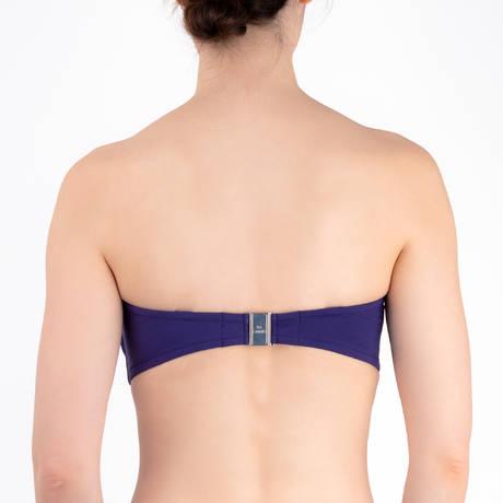 LISE CHARMEL Maillot de bain bandeau bonnets profonds Ajourage Couture Violet