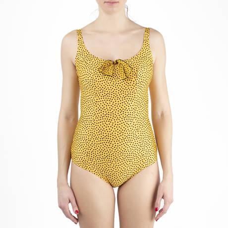 ANTIGEL Maillot de bain 1 pièce nageur armatures galbant La Dolce Riva Riva Jaune