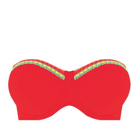 ANTIGEL Maillot de bain bandeau coques bonnets profonds La Santa Antigel Santa Rouge