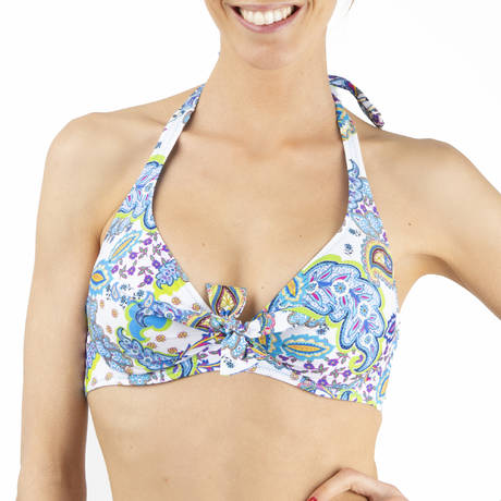 ANTIGEL Maillot de bain armatures triangle La Bollywood Bleu Kashmir