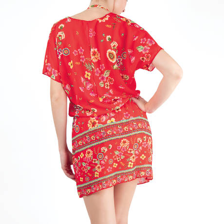 ANTIGEL Caftan La Romanesque Rouge Eden
