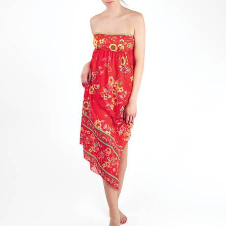8697d23724 ANTIGEL Robe de plage bustier La Romanesque Rouge Eden ...