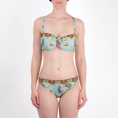 LISE CHARMEL Maillot de bain bandeau bonnets profonds Fleurs Lagon Multicolore