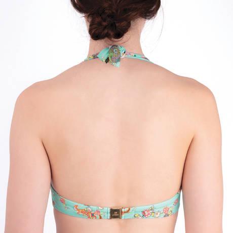 LISE CHARMEL Maillot de bain triangle bonnets profonds Fleurs Lagon Lagon Azur