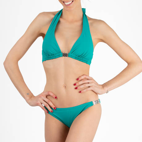 PAIN DE SUCRE Maillot de bain grand triangle TanamiSensitive Uni Life Vert foncé