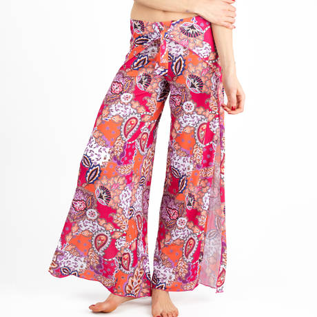 ANTIGEL Pantalon de plage La Bollywood Fuschia Kashmir