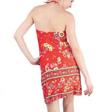 ANTIGEL Robe de plage La Romanesque Rouge Eden