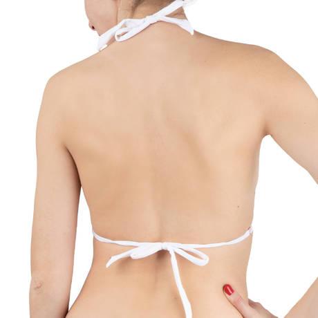 PAIN DE SUCRE Maillot de bain triangle Christie Sensitive Uni Life Blanc