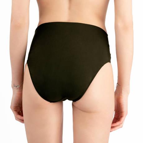 PAIN DE SUCRE Maillot de bain culotte haute Sensitive Uni Life Kaki