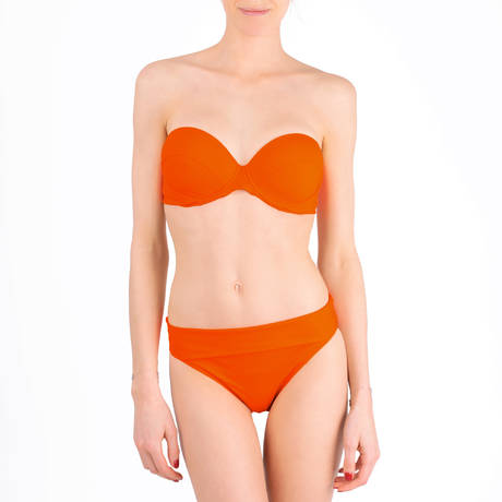 PAIN DE SUCRE Maillot de bain culotte haute Sensitive Uni Life Orange