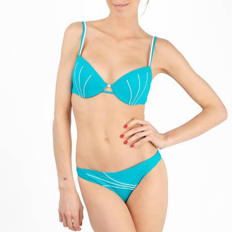 LISE CHARMEL Maillot de bain corbeille coques Distinction Nautique Nautique Turquoise