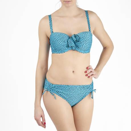 ANTIGEL Maillot de bain bandeau coques bonnets profonds La Dolce Riva Bleu Turquoise