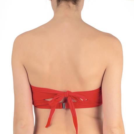 PAIN DE SUCRE Maillot de bain coques armatures Lisia Sensitive Uni Life Rouge Vermillon