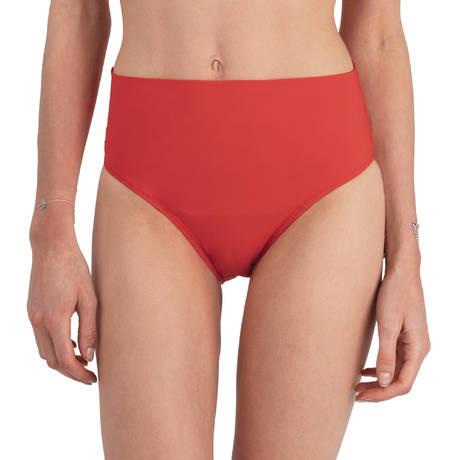 PAIN DE SUCRE Maillot de bain culotte haute Sensitive Uni Life Rouge Vermillon