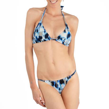 PAIN DE SUCRE Maillot de bain slip Anais Blues Leopard Bleu