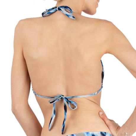PAIN DE SUCRE Maillot de bain triangle Helia Blues Leopard Bleu