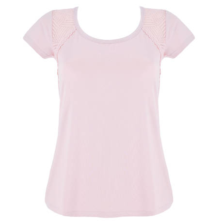 ANTIGEL T-shirt manches courtes Tressage Graphic Pink Stellaire