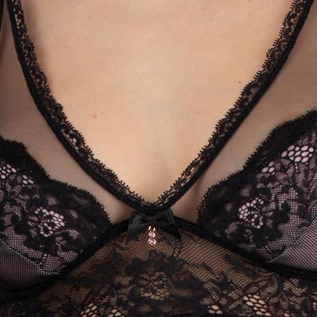 LISE CHARMEL Nuisette Résille Lotus Noir Lilas