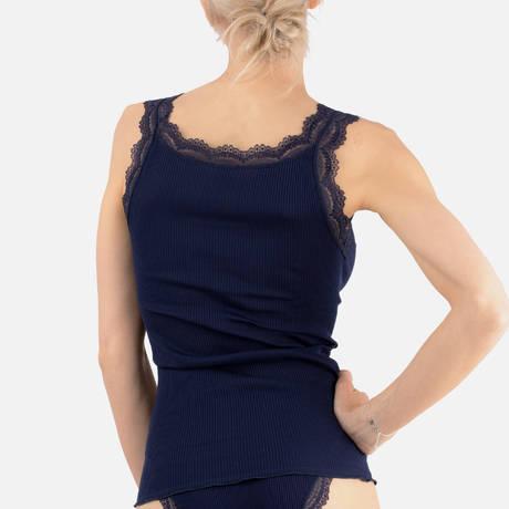OSCALITO Débardeur en coton fil d'écosse Cortina Bleu