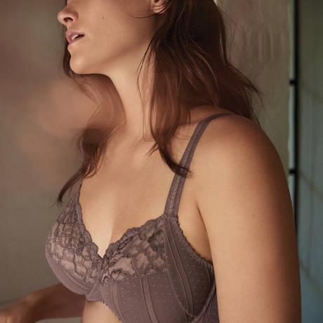 PRIMADONNA Soutien-gorge armatures emboîtant Couture Agathe Grey