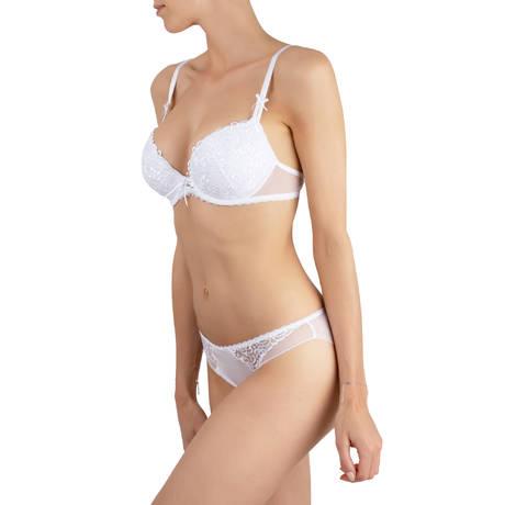 ANTINÉA Soutien-gorge coques Fashion Guipure Blanc