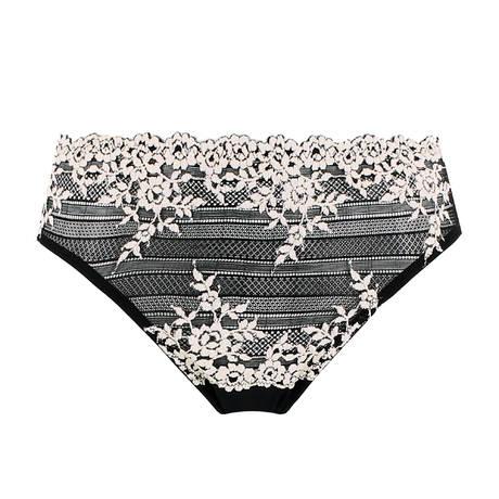 WACOAL Culotte tulle Embrace Lace Noir/Blanc